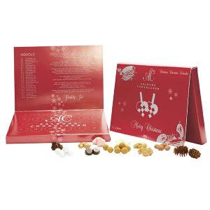 giv den klassiske Aalborg chokolade julekalender til forældre