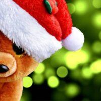 bamse-med-nissehat-foran-juletrae