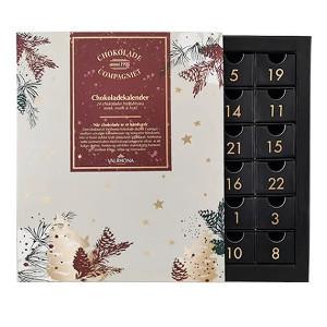 giv den klassiske Valrhona chokolade julekalender til forældre