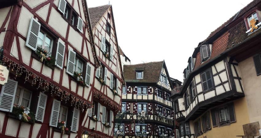 Strasbourg julemarked i den gamle bydel