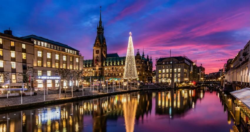 tag på tur til Hamborg i julen